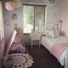 Teenage room ideas 2018 girls room decor ideas tween years old little young girl bedrooms bunk beds designs for small impressive young girls bedroom ideas Teenage Girl Bedrooms, Teenage Room, Small Room Bedroom, Bedroom Decor, Small Rooms, Bedroom Girls, Decor Room, Nursery Decor, Bedroom Colors