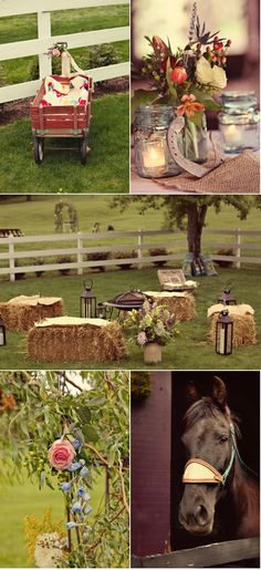 From a wedding blog - but I love the idea for the fire pit.