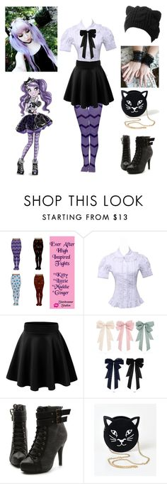 """""""Kitty Cheshire cosplay - Ever After High"""" by shadow-cheshire ❤ liked on Polyvore featuring Ollio"""
