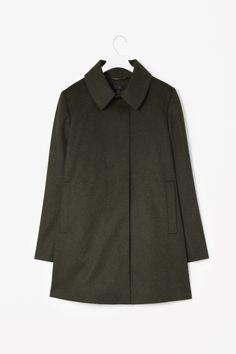 Wool box pleat jacket