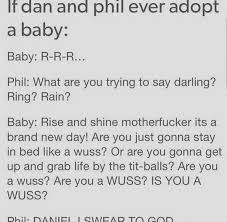 Image result for if dan and phil adopt a baby
