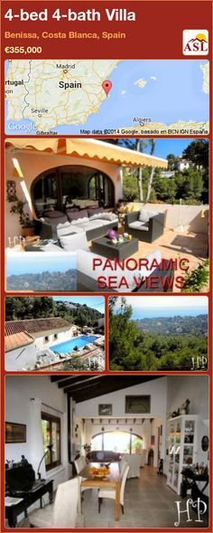 4-bed 4-bath Villa in Benissa, Costa Blanca, Spain ►€355,000 #PropertyForSaleInSpain