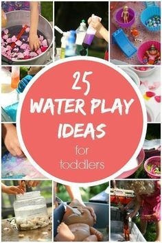 25 fantastic,easy backyard water play activities for toddlers and preschoolers. Inexpensive ways to keep your kids cool and having fun at home this summer!