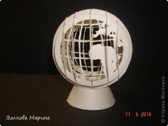 Поделка изделие Вырезание Киригами pop-up Глобус Бумага фото 4