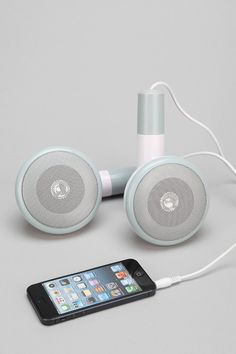 Giant Ear Bud Portable Speaker - these are way too cool
