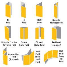 Brochures Folding Guide