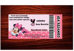Convite Minnie Rosa  Tamanho 14x6,5  Personalizamos em qualquer tema  Os convites são impressos em papel fotográfico Grossy de  230g brilho.  Esse anucio os convites não acompanha os envelopes  mas pode ser adquerido separadamente.  Fica R$1,50 0 preço por unidade.  Impresso no sistema de 6 cores...