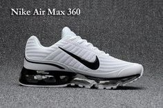 differently b16f4 66f18 Nike Air Max 360 KPU White Black Men s Running Shoes  SIM000069