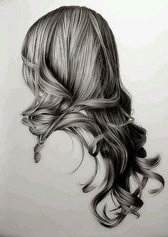 Tem Tudo da Amanda: Desenhar Cabelo Realista Feminino