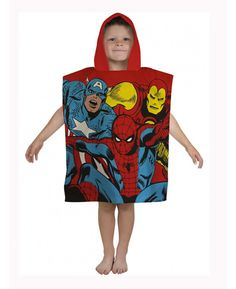 This cool Marvel Comics Justice Hooded Poncho Towel is ideal for use at the beach, by the pool or simply at home.