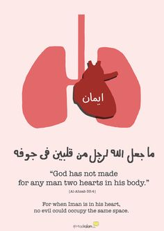 Iman strengthens our hearts.