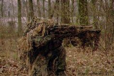 oh my goodness! Sniper Gear, Ghost Soldiers, Ghillie Suit, Tactical Survival, Tactical Gear, Airsoft Guns, Airsoft Sniper, Military Special Forces, Military Camouflage