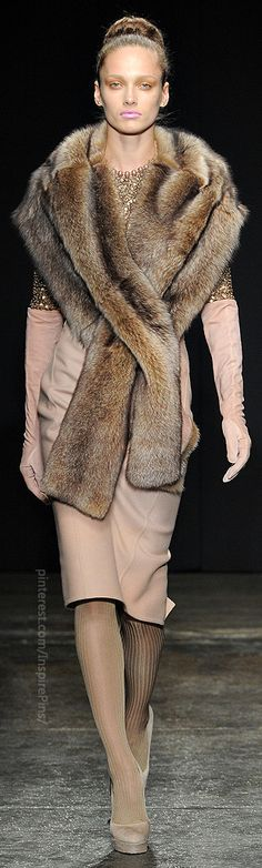 4. Donna Karan Fall 2011: this fur piece is a modern take on the Stole from the Early Middle Ages, with its long, narrow strip of material wrapping over the shoulders and hanging down in front
