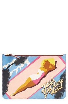 Sophie Hulme 'Wish You Were Here' Pouch available at #Nordstrom