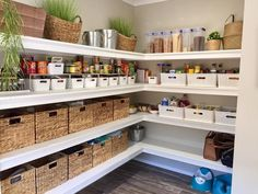 You can have a pretty pantry. Mine is an open butlers style pantry that is . - New Hom. You can have a pretty pantry. Mine is an open butlers style pantry that is . - New Home KÜCHE , Kitchen Organization Pantry, Home Organisation, Organized Pantry, Household Organization, Organization Ideas, Pantry Shelving, Pantry Storage, Open Pantry, Kitchen Pantry Design