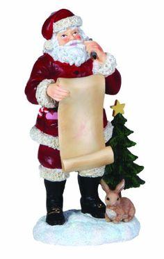 Pipka Santa's List Figurine. #SantaClaus #Santa #Claus #Christmas  #Figurine #Decor #Gift #gosstudio .★ We recommend Gift Shop: http://www.zazzle.com/vintagestylestudio ★