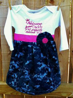 PERSONALIZED Military Homecoming Dress WITH by ChartreuseGiraffe, $40.00