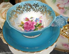 Paragon Flower Handle Teacup and Saucer