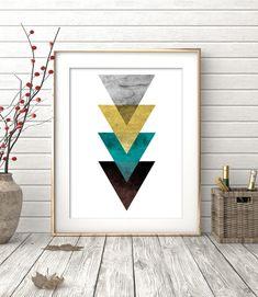 Art géométrique imprimable géométrique Art Digital Art par OhFinale