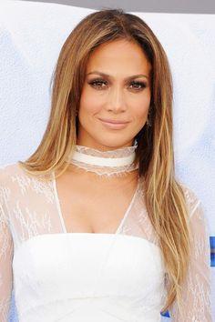 Jennifer Lopez opted for a golden balayage. Best Ombre Hair, Ombre Hair Color, Hair Color Balayage, Cool Hair Color, Brown Hair Colors, Hair Highlights, Hair Colour, Bayalage, Balayage Brunette