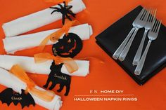 diy halloween personalized napkin ring holders