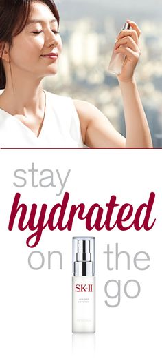 Keeping your skin healthy on the go is easier than you think! SK-II's Mid-Day Essence penetrates through makeup to give you a skincare boost anytime, anywhere. Read these great tips for staying hydrated and moisturized all day long, no matter where you are!  http://www.sk-ii.com/luxury-skin-care-tips/dehydrated-skin-tips.html?cm_mmc=Pinterest-_-Epop2016-_-Campaign-_-Middayspray