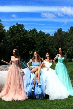 Prom Dress Princess, Tulle Off-the-shoulder Neckline A-line Prom Dress With Beadings Shop ball gown prom dresses and gowns and become a princess on prom night. prom ball gowns in every size, from juniors to plus size. Elegant Bridesmaid Dresses, A Line Prom Dresses, Tulle Prom Dress, Homecoming Dresses, Sexy Dresses, Wedding Dresses, Pastel Prom Dress, Elegant Dresses, Formal Dresses