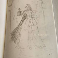 While waiting at the doctor's I pulled out my sketchbook #sketching #pencildrawing #fantasyart #woman #artistsoninstagram #medievalfantasy