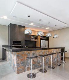 trendy ideas for kitchen open modern cuisine Kitchen Room Design, Outdoor Kitchen Design, Modern Kitchen Design, Interior Design Kitchen, Kitchen Decor, Kitchen Remodel Cost, Diy Kitchen Cabinets, Cuisines Design, Cool Kitchens