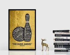 The Big Lebowski Inspired Quote Poster  11 x 17 par UnikoIdeas, $18.00