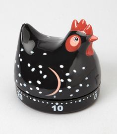 Chicken Kitchen Timer - Gotta get this. Cute Chickens, Chickens And Roosters, Kitchen Dinning Room, Kitchen Decor, Dining, Cute Kitchen, Kitchen Stuff, Quirky Kitchen, Country Kitchen