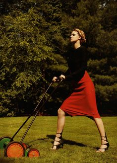 red hot fashion | lindsey wixson | harper's bazaar us  | by terry richardson