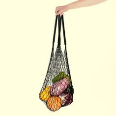 Summer fruit  the net bag in black, two of our favorite things.