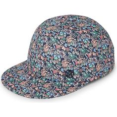 Maison Michel Hailey floral jersey cap (1.710 RON) ❤ liked on Polyvore featuring accessories, hats, floral hat, floral print cap, ball cap, floral baseball hat and baseball caps