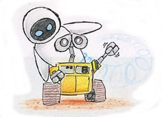 Eve clipart walle drawing - 15 Hight quality cliparts for free - Nation Clipart Vector Robot, Social Media Art, Drawing Frames, Wall E, Hd Images, Pencil Art, Photo Cards, Eve, Doodles