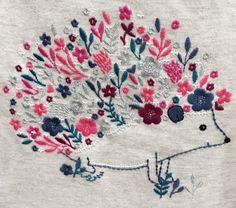 Embroidered hedgehog