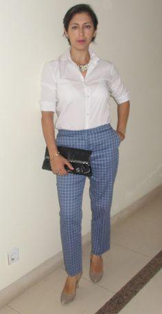 O meu Plano B: Look do dia: Printed pants and white shirt.