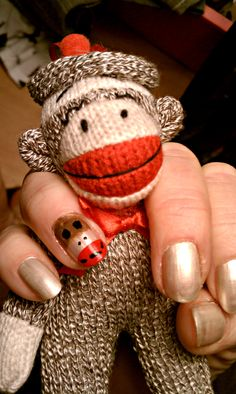 sock monkey nails