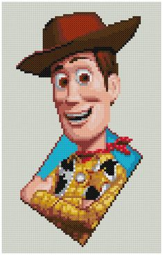 PDF Cross Stitch pattern 0007.Woody Toy Story by PIXcross