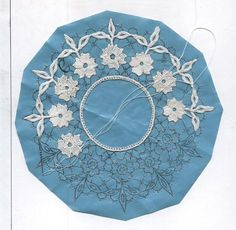 For all our members who want to advance in reticello needlelace. Crochet Doily Patterns, Crochet Motif, Doilies Crochet, Russian Crochet, Irish Crochet, Needle Lace, Bobbin Lace, Paper Embroidery, Embroidery Stitches