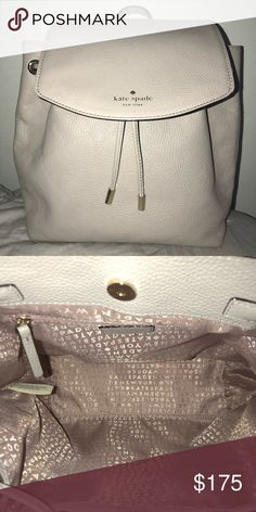 Kate Spade Breezy Mulberry backpack small Perfect condition, only used once ! No stains or marks. Was originally $329  Length- 8in.  Height- 11in. kate spade Bags Backpacks