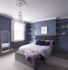 Popular Navy Color Master Bedroom Decoration Ideas - HOOMCODE - Ideas for the house - Bedroom Decor Boys Bedroom Furniture, Home Bedroom, Diy Bedroom Decor, Bedroom Ideas, Bedroom Inspiration, Bedroom Designs For Couples, Design Your Bedroom, Bed Design, Bedroom Chimney Breast