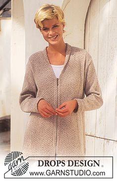 DROPS 50-13 - DROPS jakke i Silke-Tweed med lynlås