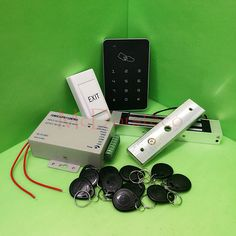 Free Shipping DIY Rfid Door Access Control Kit Set With Electric Magnetic Lock + 10 RFID keyfob Card Full Access Control System #Affiliate