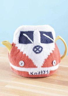 Free knitting pattern for Camper Van Teapot Cozy
