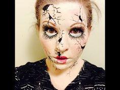 Creepy Cracked Broken Doll Makeup Tutorial