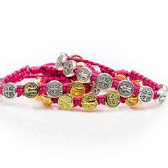 New Fuchsia Blessing Bracelets    GIVE THE GIFT OF A BLESSING  Wear this bracelet to remind yourself that God has given you a mission to make the world a better place, and that you can choose to fulfill that mission by using your hands to do good.