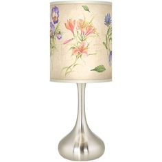 Giclee Glow Floral Fancy Giclee Kiss Table Lamp (5.170 RUB) ❤ liked on Polyvore featuring home, lighting, table lamps, floral lamps, floral lights, flora lights and floral table lamp