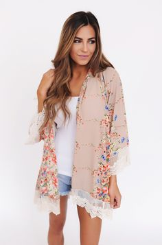 Layer a cute kimono over a t-shirt and shorts!