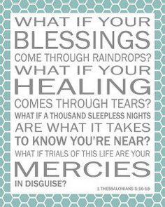 Laura Story song Blessings lyrics that were sung in church this a.m.  So very very beautiful!!